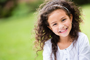 young girl smiling